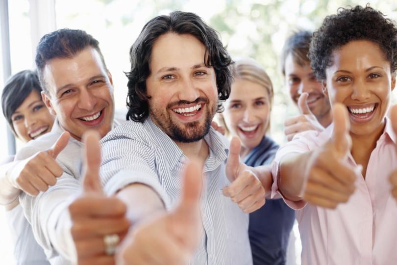 lavoratore italiano soddisfatto